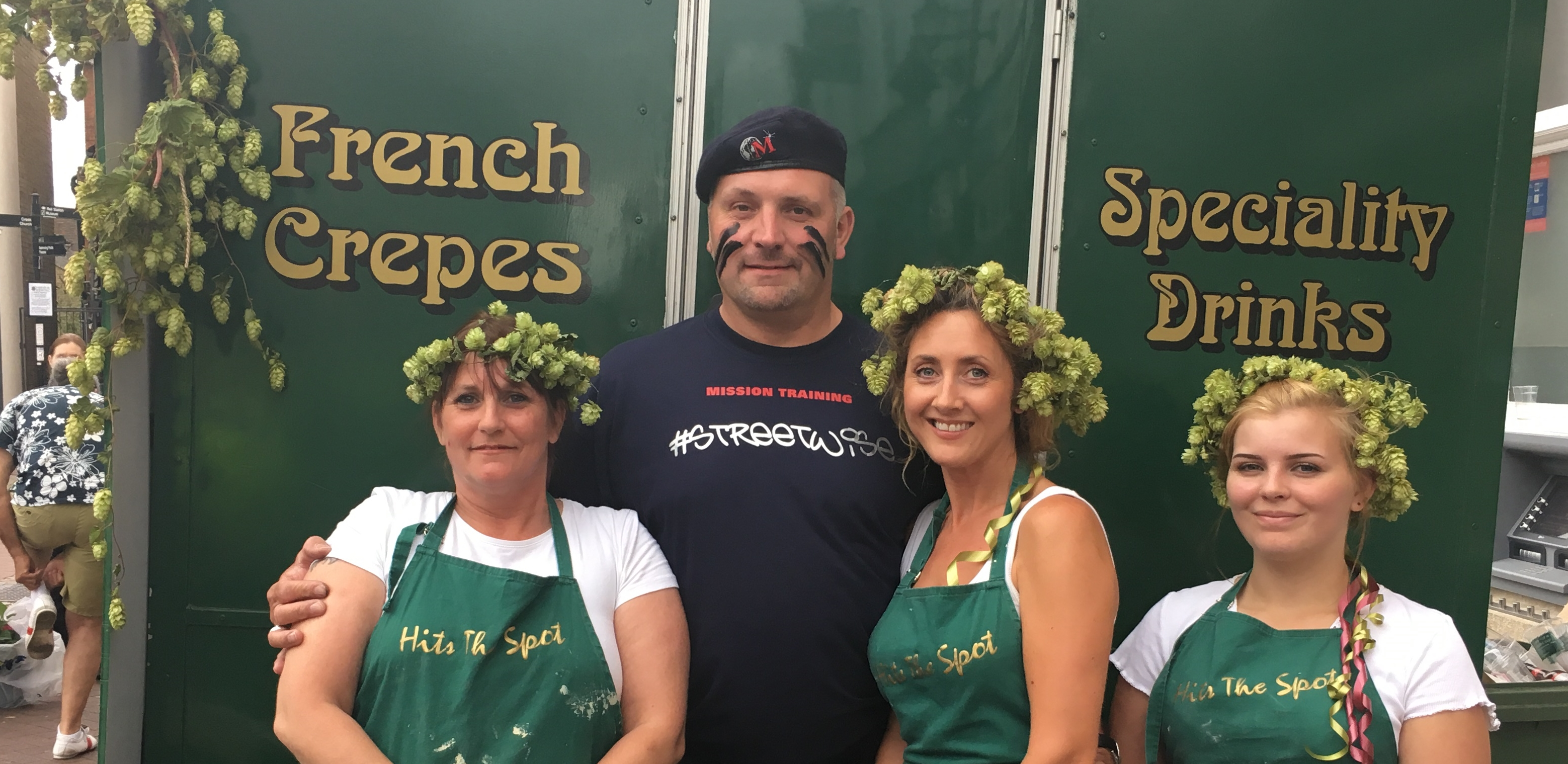 September 2016 - Maximus visited the crepe stand at the Faversham Hop Festival
