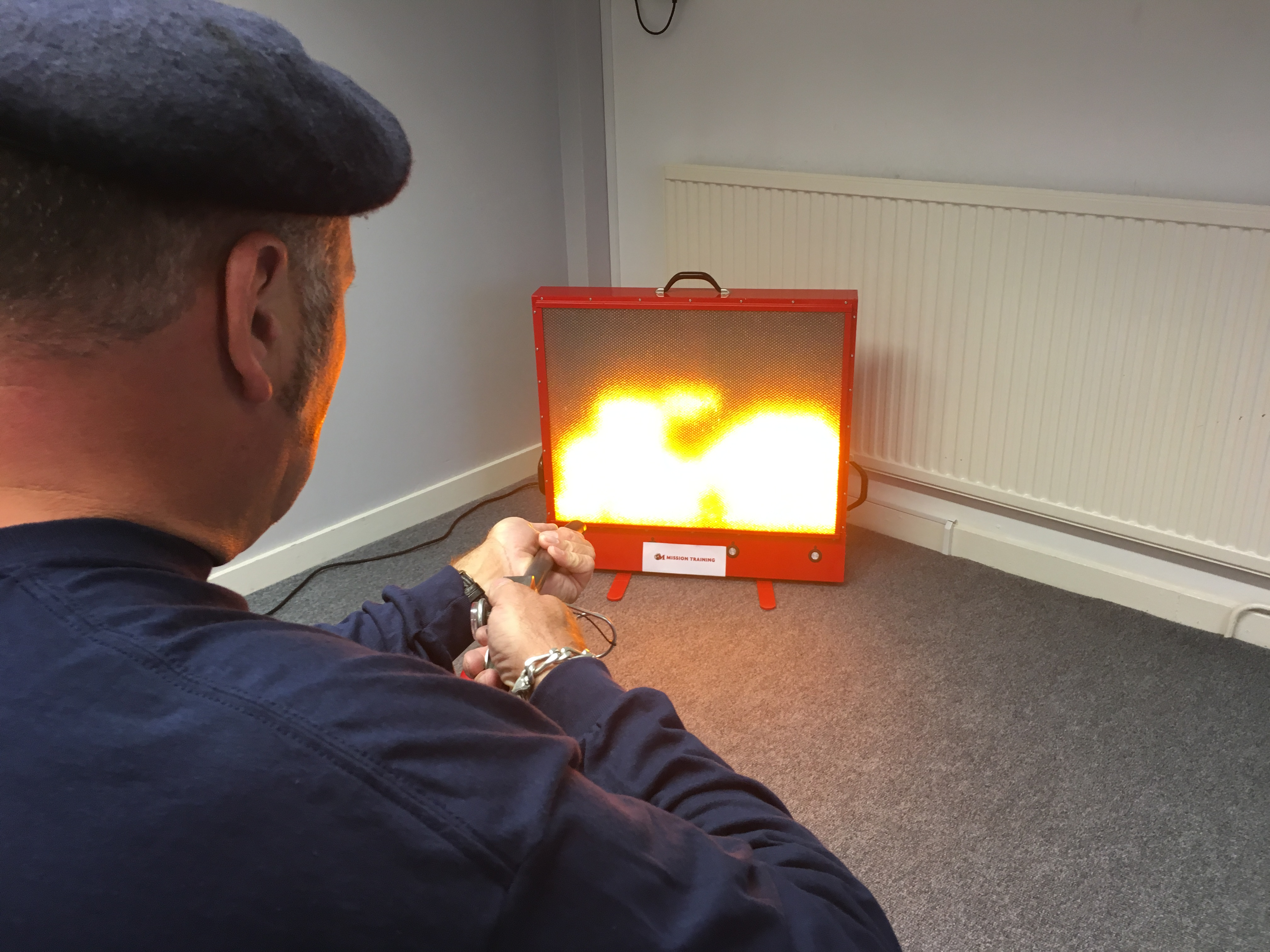 September 2016 - Maximus completes fire training on our Fire Extinguisher Simulator training