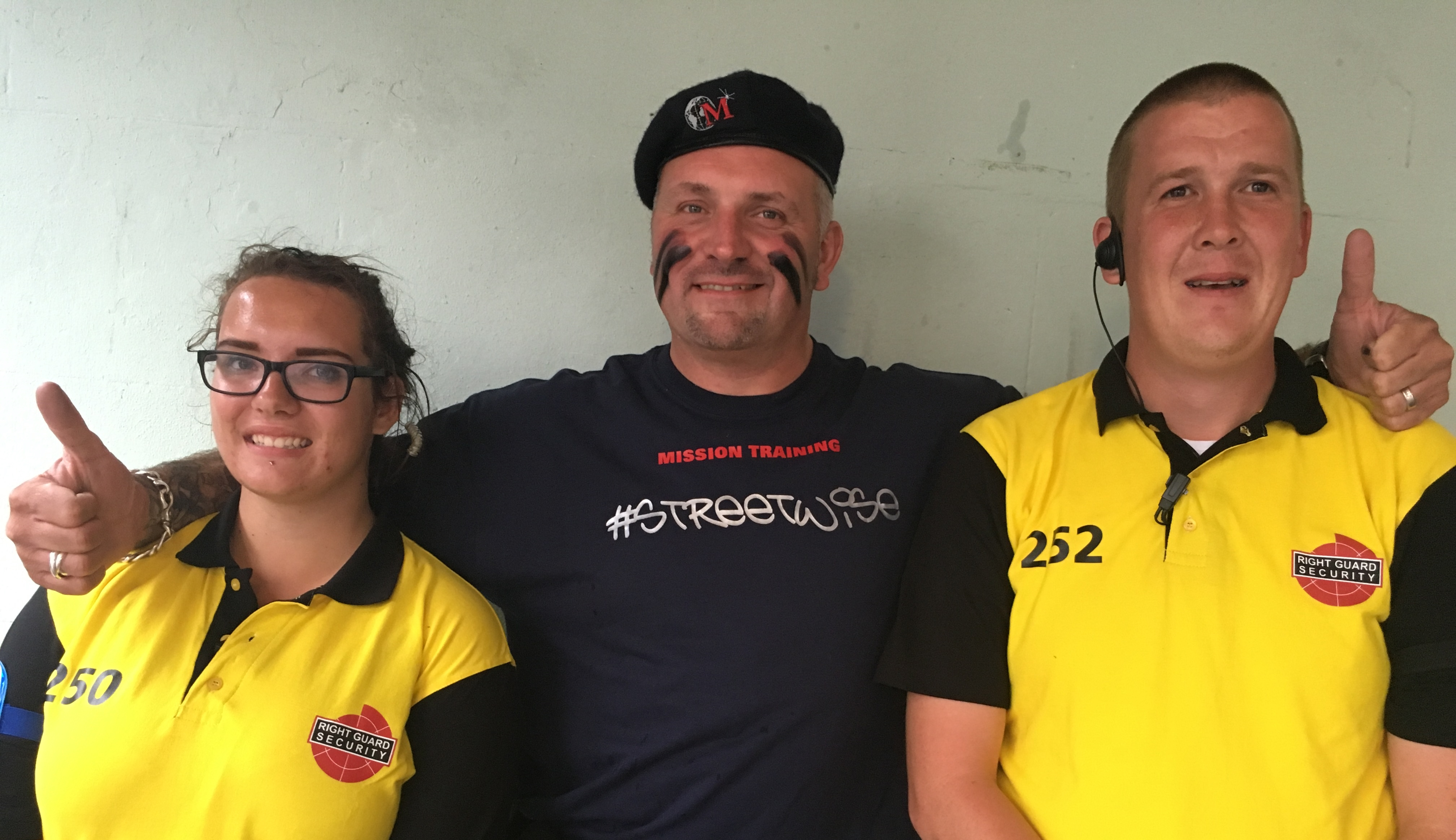 September 2016 - Maximus with the Right Guard Security staff at the Faversham Hop Festival